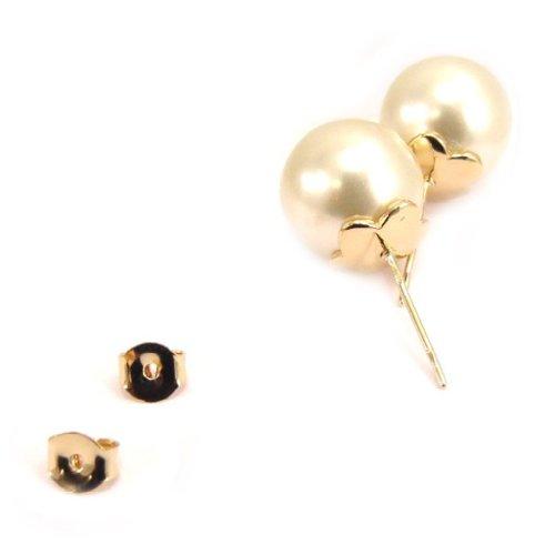 Les Trésors De Lily [L1252] - Boucles Plaqué Or 'Perla' 13 mm