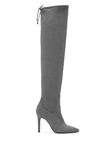 Jessica Simpson Kvinna Loring Mode Boot Verkligen Grå Stretch Micro