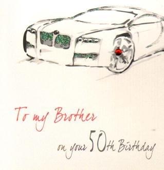 Brother 50th Birthday Handmade Card