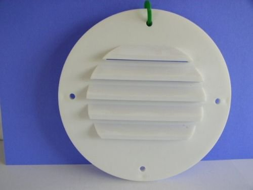 Round WHITE Battery Box Vent with Screws for RV's Motorhome Camper