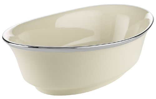 Lenox Solitaire Platinum-Banded Fine China Large Open Vegetable Bowl