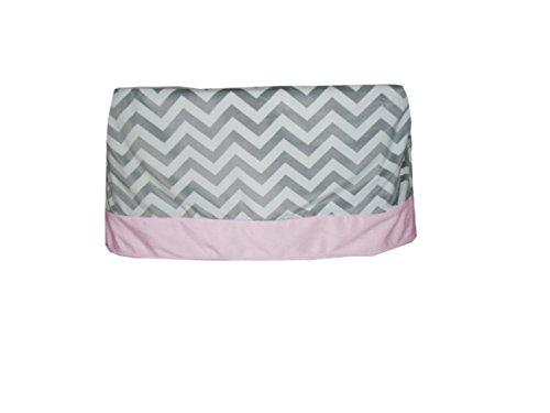 Baby Doll Minky Chevron Crib Skirt/Dust Ruffle, Pink (Dust Ruffle Crib Minky)