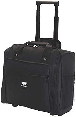 560e42602 Slimbridge Orlando Under Seat Cabin Approved Trolley Bag, Black: Amazon.co. uk: Luggage