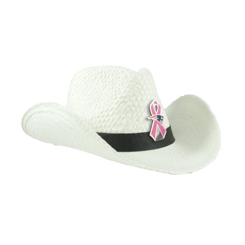 New England Patriots Breast Cancer Awareness Cowboy Hat 17a8fa3ebf7c