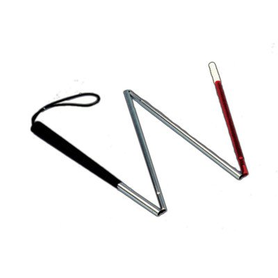 Essential Medical Supply Folding Aluminum Blind Cane, 50'' Long with Red Tip by Essential Medical Supply (Image #1)