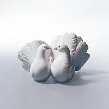 Figurines Lladro Christmas (Lladro Couple Of Doves Figurine)