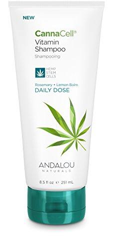 Andalou Naturals CannaCell Vitamin Shampoo, Daily Dose, 8.5 Ounce Tube, THC-Free, Sulfate-Free, Silicone-Free Botanical Hair Care