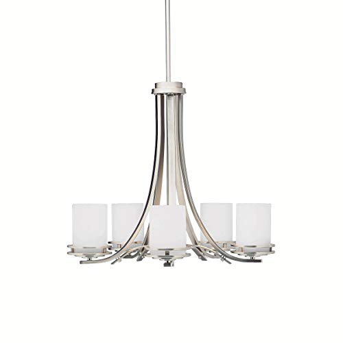Chandeliers 5 Light Fixtures with Brushed Nickel Finish Medium Bulb Type 25
