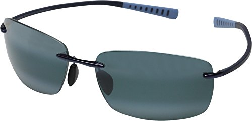 Maui Jim Kumu 724-06 Blue Frame / Neutral Grey - Men Maui For Jim Best Sunglasses