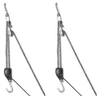 Carolina North Hang 'em High Hand Chain Hoist, Hook Mount, 250 lbs Capacity, Lift, Headroom (2-(Pack))