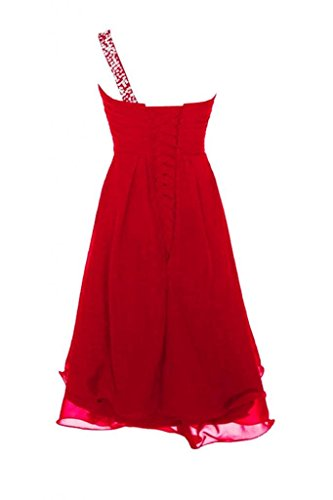 KAY&LAYLA Women's Beaded One-Shoulder Gown 2015 Short Homecoming Gown Red Size 14 by KAY&LAYLA (Image #1)