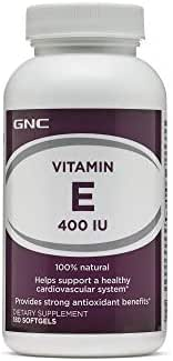 GNC Vitamin E 400 IU, 180 Softgels, Supports a Healthy Cardiovascular System