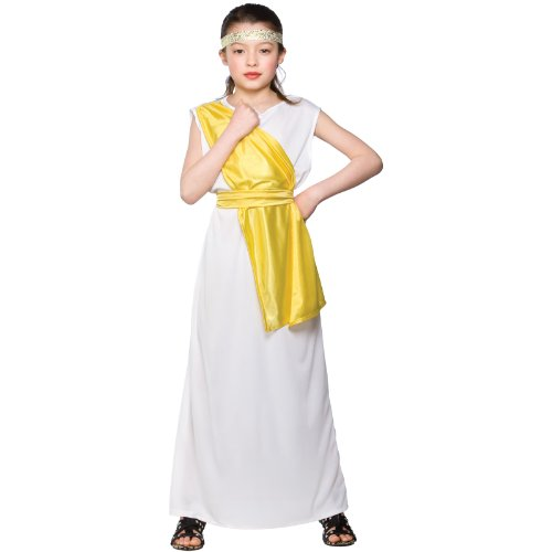 Girls Ancient Greek Girl Costume Fancy Dress Up Party Halloween Kid Child (Halloween Costumes Age 3-4 Uk)