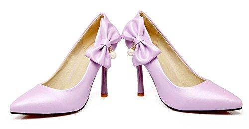 Violet 9 Aisun Sur Noeud Le Mariage Femme Elégant 5cm Côté Stiletto Escarpins Mariée HHqW78r