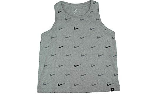 Nike Logo Mash Crop Tank Gray Color Size Small - Logo Crop