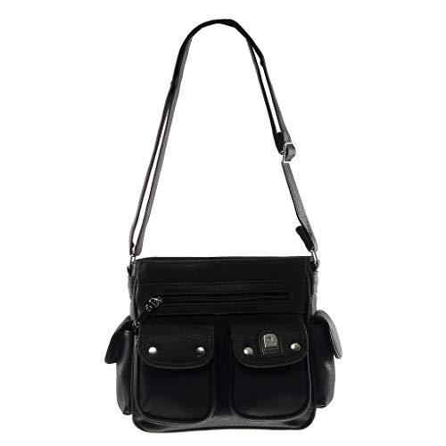 regalo Student Tote Casual Street Messenger Elegante Donna Bag Fashion Borse casual Messenger nero Angkorly Idea UO84q4