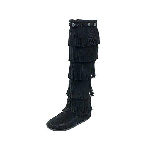 Minnetonka Moccasin 5-Layer Stiefel Black