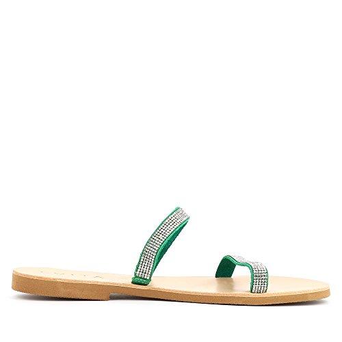 Donna Greta Shoes Verde Sandali Evita ptU0wOqqx