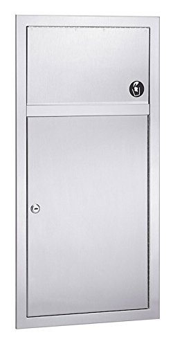 - Bradley 3251-11 Surface-Mounted 2.8 Gal. Waste Receptacle With Push Flap Door