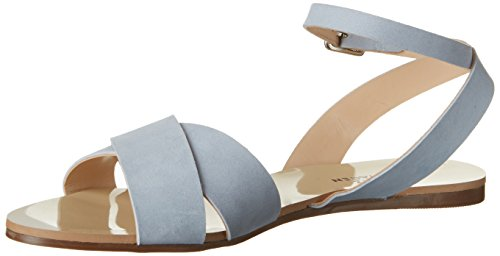 Shoe Biz Women's Flat Wedge Heels Sandals Blue (Nubuk Light Blue) TWdtwrl7