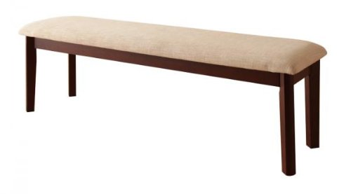 北欧デザインエクステンションダイニング 【Foret】フォーレ ベンチのみ単品販売(W130) ブラウン B00LHHF06Y ブラウン ブラウン