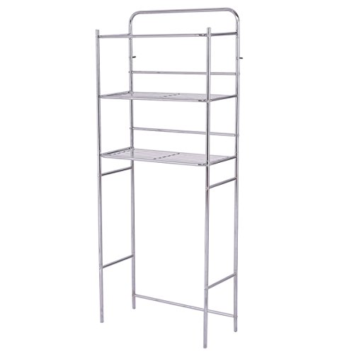 MATAS Shelf Rack Toilet Storage Bathroom Organizer Chrome Keeping towels 3-Tier Size 24''x11''x60''(WXDXH) by MATAS