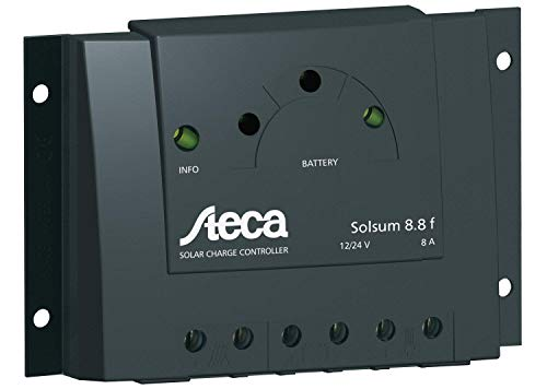 SOLSUM 8.8 F Solar Charge Controller with Led 12-24 VDC- 8 Amps