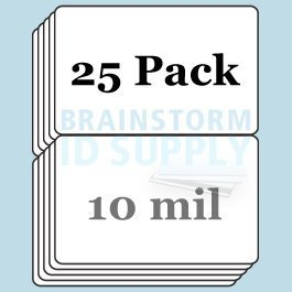 10 Mil Butterfly Pouch Laminates - 25 Pack