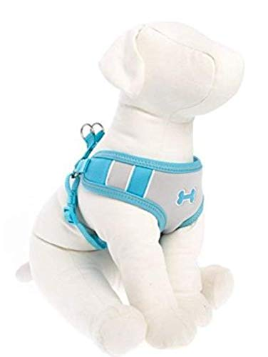 TOP PAW Bone Sport Comfort Harness Size S Blue Grey