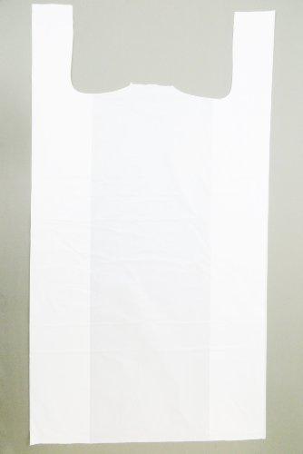 Plastic Bag-Super Jumbo White Plain T-Shirt Bag 20x10x36 18 mic