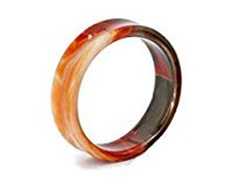"""Painful Pleasures RED Agate Double Flare Hollow Plugs 28mm - 50mm - Price Per 1-32mm ~ 1-1/4"""""""
