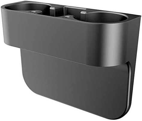 AIHONG Car Organizer, Car Cup Holder Auto Seat Gap Water Cup Drink Bottle Can Phone Keys Organizer Storage Holder Stand Car Accessories Car Styling for Most Car Models (Color Name : Black)