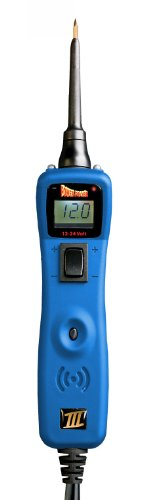 POWER PROBE III W/ Case & Acc - Blue (PP319FTCBLU) [Car Automotive Diagnostic Test Tool Power Up Electrical Components Digital Volt Meter ACDC Current Resistance Circuit Tester LCD Screen Flashlight Short Circuit Indicator Audible Tone] by Power Probe (Image #1)