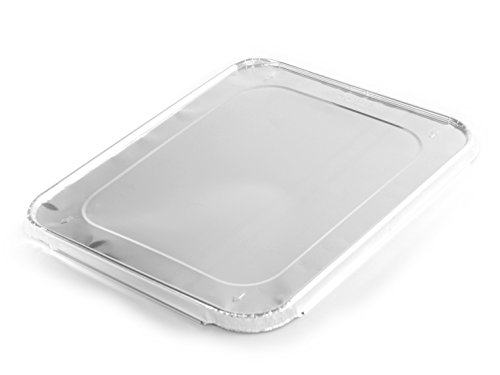 Simply Deliver Aluminum Steam Table Lid, Half-Size, 30 Gauge, 80-Count - Disposable Metal