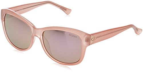 GUESS Unisex GF0259 Pink/Brown Mirror Lens - Sunglasses Guess Womens