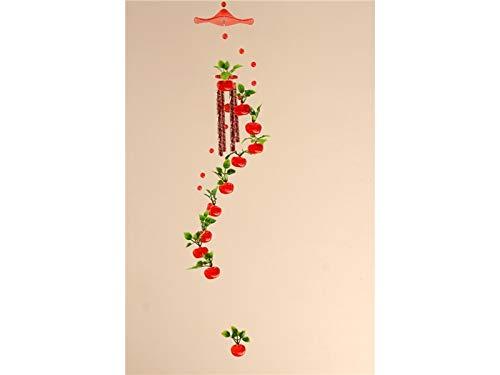 (TUOBU Vintage Metal Tube Mobile Apple Shape Wind Chime Bell Garden Gift Hanging Living Room Door Decor)
