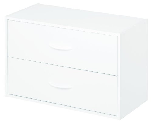 ClosetMaid 8984 2-Drawer Stackable Organizer, White