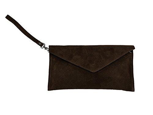 Bag scarlet Brown Dark bijoux scarlet bijoux Clutch Brown xIHRW0