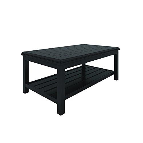 Ashley Furniture Signature Design - Castle Island Outdoor Coffee Table - Slate-Style Top - Shelf - Dark Brown (Top Outdoor Slate Furniture)