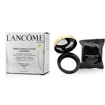 Lancome Liquid Foundation (Lancome Teint Idole Ultra Cushion Liquid Cushion Compact SPF 50, No. 02 Beige Rose, 0.45 Ounce)