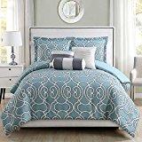 Renaissance Collection 6 Piece Mina Spa/Gray Comforter Set Queen by