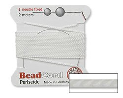Griffin Bead Cord 100% Natural Silk White (Natural Silk Cord)