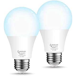 LOHAS Smart Light Bulb Dimmable LED Daylight Bulbs A19, WiFi LED Bulbs, Compatible with Amazon Alexa, Google Home, Remote Control by Smartphone iOS & Android, 50W LED Light Bulb Equaivalent, 2Pack