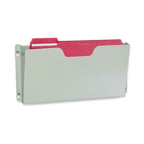Buddy Products Wall Pocket, Steel, Letter Size, Platinum (5201-32) (Buddy Products Letter)