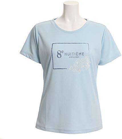 (HUITIEME) ドライプラス Tシャツ FLOWER HU19S03LS733112LBLU