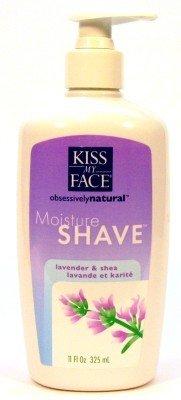 Kiss My Face Moisture Shave 11 Ounce Lavender & Shea Pump (325ml) (3 Pack)