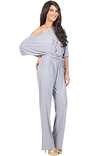 43daa1bfdf7 ... Womens One Off Shoulder Short Sleeve Piece Jumpsuit Pant Suit Romper.    