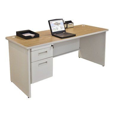 Pronto Computer Desk with Left Single Pedestal Size: 29