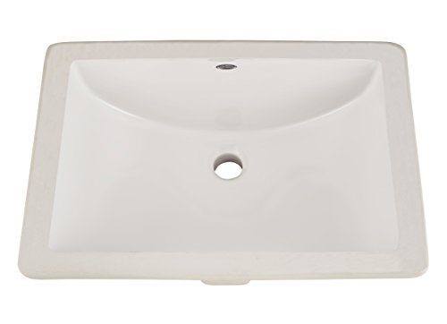 American Standard 614000.020 Studio Ceramic undermount Rectangular Bathroom sink, 21.25'' L x 15.25'' W x 8.25'' H, White