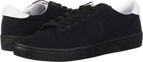 Fred Perry Men's Spencer Canvas Sneaker, Black, 8 D UK (9 US) ()